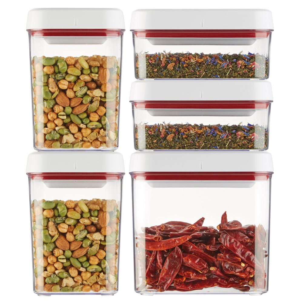 Zyliss Twist & Seal 5 Piece Storage Container Set, BPA free