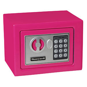 Honeywell 5005P Digital Steel Compact Security Safe (.17 cu ft.) - Pink