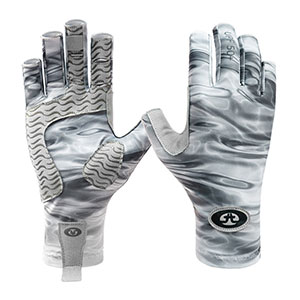 Flying Fisherman G2205-L/XL Sunbandit Pro Series Gloves Gray Water L/Xl