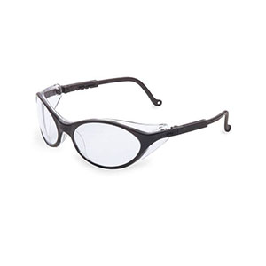 Honeywell Bandit Safety Eyewear with a Black Dual-Lens Frame, Clear Lens, Anti-Fog Lens Coating - RWS-51010