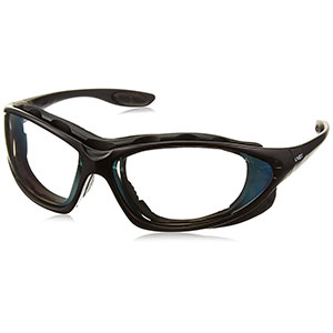 Honeywell Uvex Seismic 2-in-1 Eyewear and Goggle Kit, Black Frame, Indoor/Outdoor Lens, Anti-Fog Lens Coating - RWS-51044