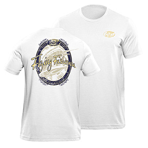 Flying Fisherman T1711WL Beer Label Tee White L