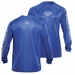 Flying Fisherman TL1401RL Logo Long Sleeved Performance Tee Royal L