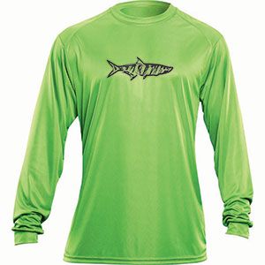 Flying Fisherman TL1402LL Tarpon Long Sleeved Performance Tee Lime L