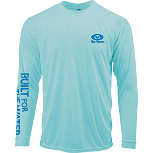 Flying Fisherman TL1414AL Built For Water Performance Tee Aqua L