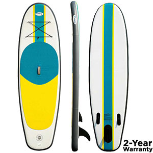 Blue Water Inflatable Stand Up Paddle Board (SUP), 9ftx31inx5in - BWSUP-9315