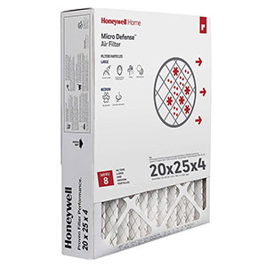 Honeywell Air Filter High Efficiency CF100A1025/U, 20x25x4 - Merv 8