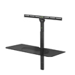 Level Mount Adjustable Height, Single Glass Shelf TV Wall Mount Attachment for 26-85 Inch Mounts, can support 30 LBS - ELGS