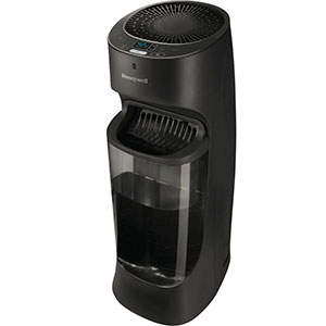 Honeywell Top Fill Cool Moisture Tower Humidifier with Digital Humidistat in Black, HEV620B