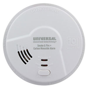 USI Hallway 3-in-1 Smoke, Fire and Carbon Monoxide Smart Alarm with 10 Year Tamper-Proof Sealed Battery (MIC3510SB)