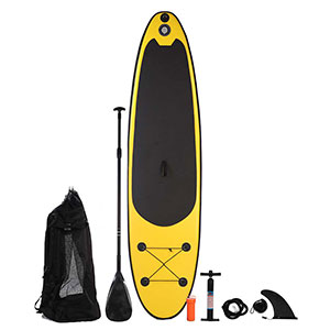 Blue Water Toys Inflatable Stand Up Paddle Board (SUP), 10ft x 30in x 4in