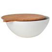 Yumi Nature+ White Natural Bamboo Salad Bowl with Cover