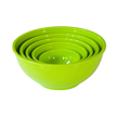 Yumi Nature+ Green Natural Bamboo Nesting Bowls, Set of 5